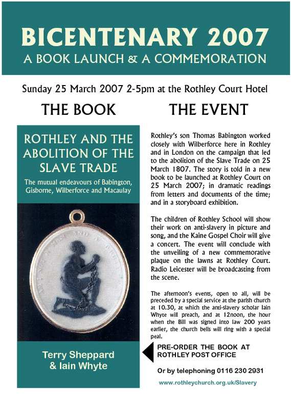 Rothley and the Abolition of the Slave Trade