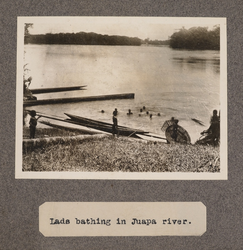Lads bathing in Juapa River