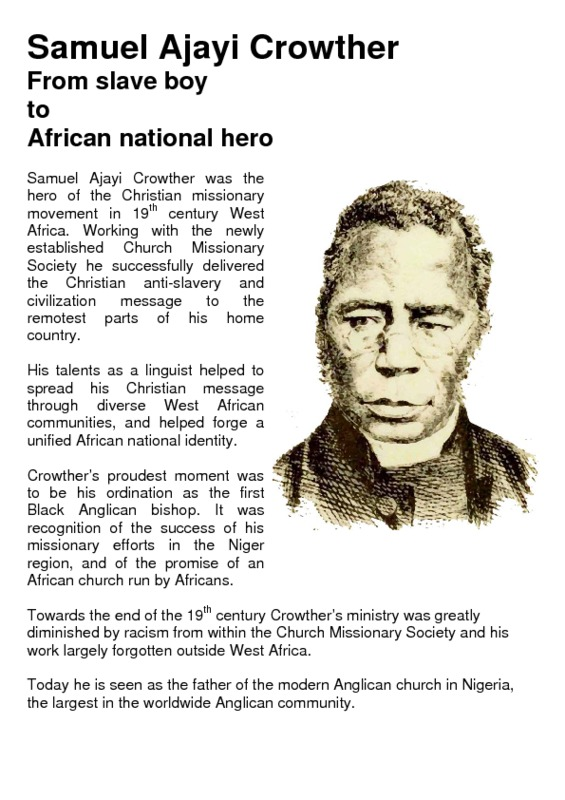 Samuel Ajayi Crowther: From slave boy to African national hero