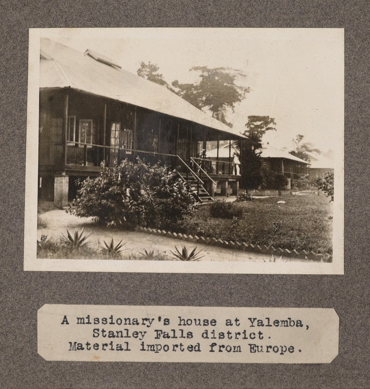 A missionary's house at Yalemba, Stanley Falls District. Material imported from Europe