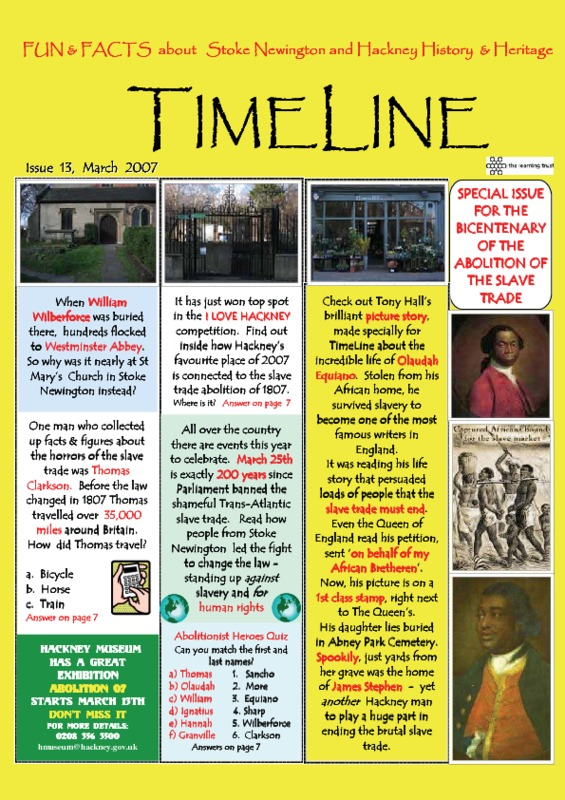 Special issue of TimeLine: Fun and Facts about Stoke Newington and Hackney History and Heritage