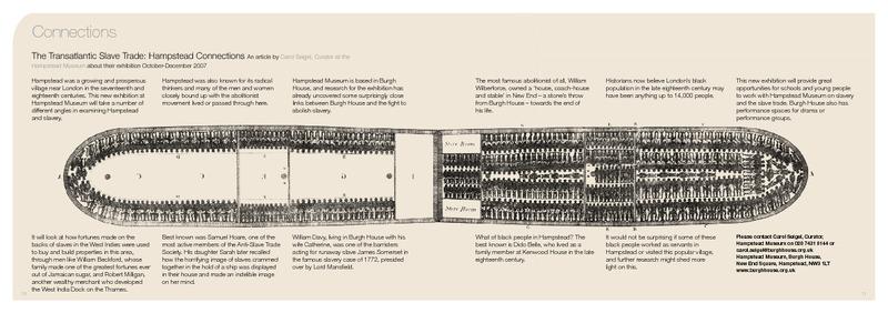 The Transatlantic Slave Trade: Hampstead Connections
