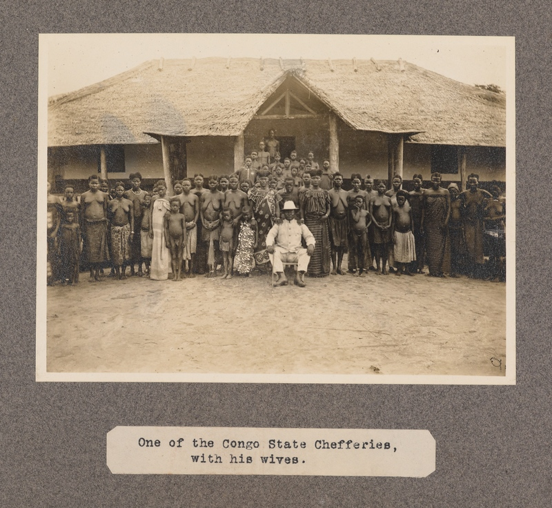 One of the Congo state chefferies with his wives