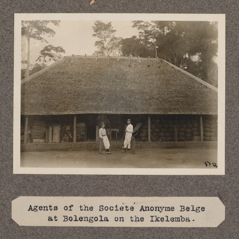 Agents of the Société Anonyme Belge at Bolengola on the Ikelemba