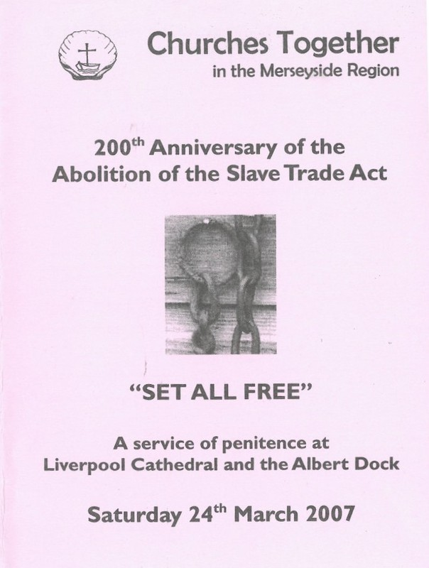 A service of penitence at Liverpool Cathedral and the Albert Dock