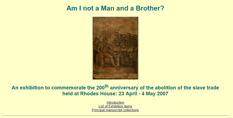 Am I Not a Man and a Brother?