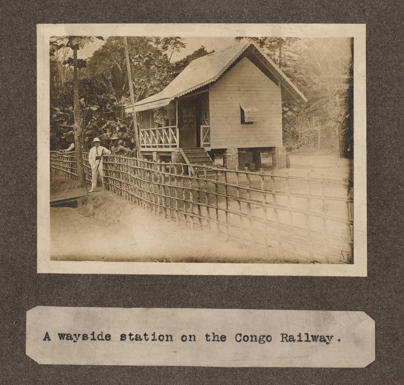 A wayside station on the Congo railway