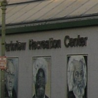 Parkview Recreation Center Mural, Northwest at Otis Pl (Black Neighborhood), Washington DC, 1990s [destroyed 2010].jpg
