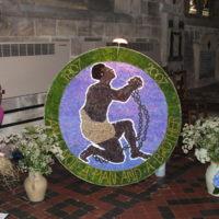 2007 Wirksworth Well Dressing St Marys Church Well.JPG