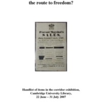 Cambridge University Library handlist2007.pdf