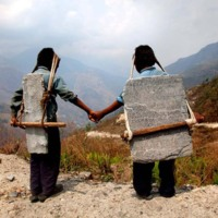 Brothers Carrying Stone, Nepal