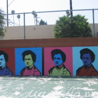 Maryanna Donnelly, Frederick Douglass Academy Elementary School Mural, 2400 S. Western Ave, Los Angeles, 2014.jpg