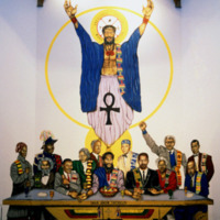 Maurice Myron, Last Supper, Union Temple Baptist Church, 1225 W. Street SE (Black Neighborhood), Washington, DC, 1990.jpg