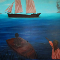 Luis Zarate, Underground Railroad,  8364 Bay Street, Sodus Point, NY 2012.jpg