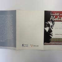 2007 Lambeth and the Abolition Leaflet Front.jpg