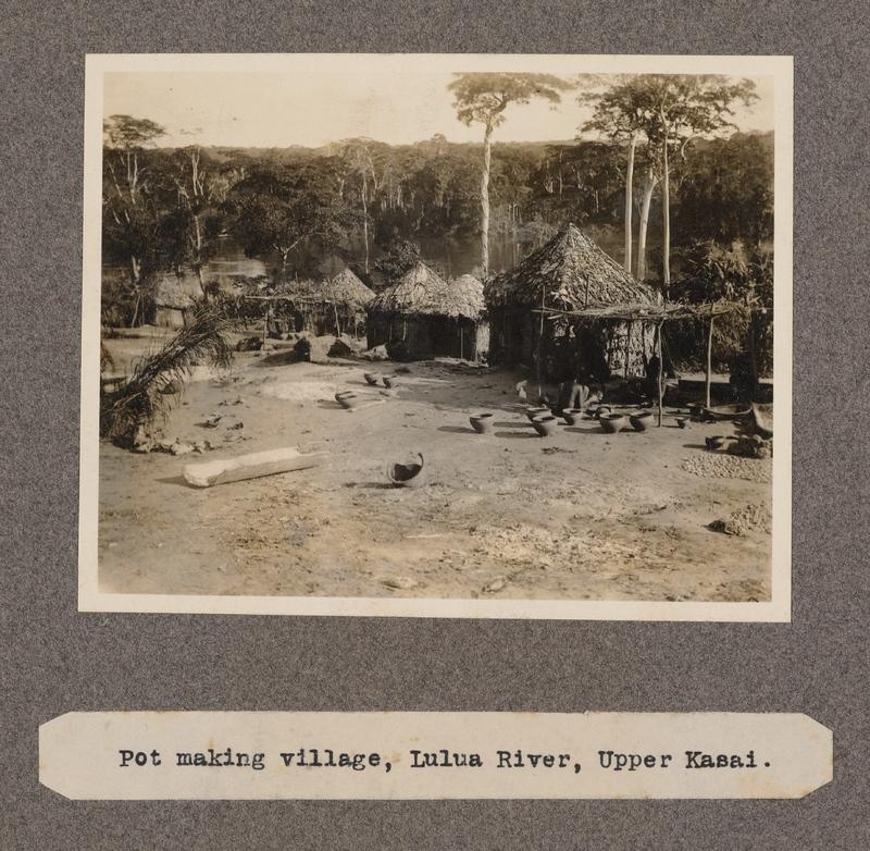 Pot making village, Lulua River, upper Kasai