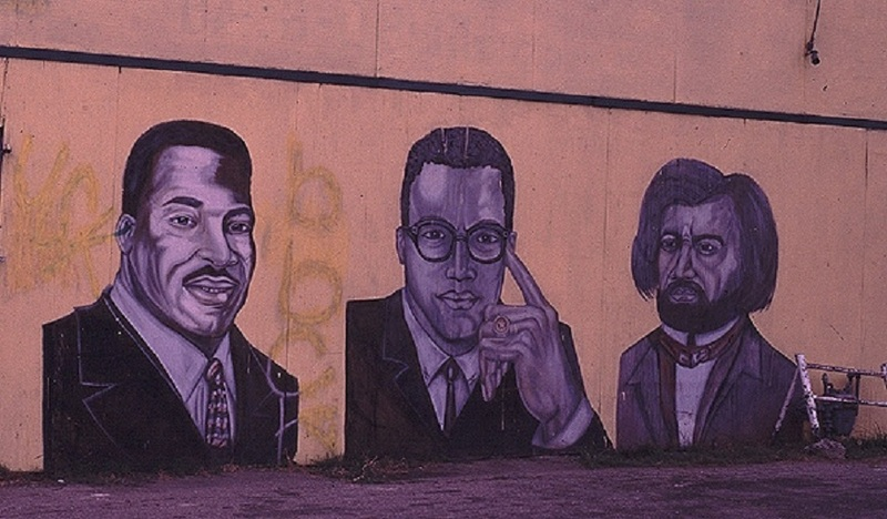 Martin Luther King Jr., Malcolm X and Frederick Douglass