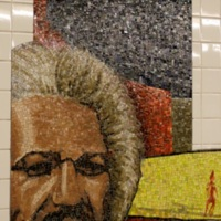 Christopher Wynter, Migrations, Glass Mosaic in New York Subway, 110th St at Cathedral Parkway, 1999.jpg