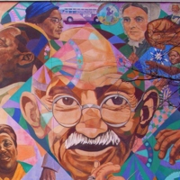 David Fichter, Freedom Quilt Mural, painted for the Rainbow Coalition during the DNC, 92 Piedmont Ave (Black Neighborhood), Atlanta, 1988 (2).jpg