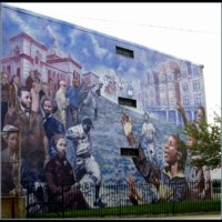 John Lewis and Delia King, The Leidy School Mural, Belmont and Leidy Avenues (Black Neighborhood), Philadelphia, 2004.jpg
